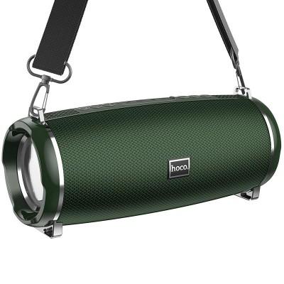 Портативная Bluetooth колонка Hoco HC2 Xpress sport с влагозащитой IPX5 (BT 5.0, AUX, USB, MicroSD, FM радио) Dark Green