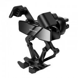 Держатель для телефона на дефлектор в авто Borofone BH32 Gracioso gravity linkage car holder Black