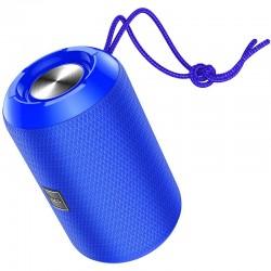 Портативная Bluetooth колонка Hoco HC1 Trendy sound с влагозащитой IPX5 (BT 5.0, AUX, USB, MicroSD, FM радио) Blue