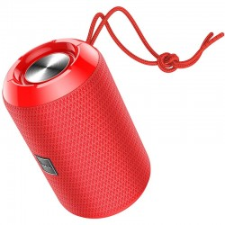 Портативная Bluetooth колонка Hoco HC1 Trendy sound с влагозащитой IPX5 (BT 5.0, AUX, USB, MicroSD, FM радио) Red