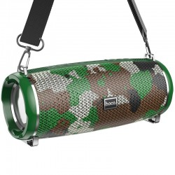 Портативная Bluetooth колонка Hoco HC2 Xpress sport с влагозащитой IPX5 (BT 5.0, AUX, USB, MicroSD, FM радио) Camouflage Green