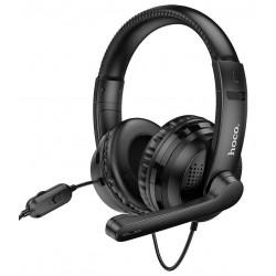 Игровые наушники для ПК с микрофоном Hoco W103 Magic tour gaming headphones Black