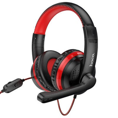 Игровые наушники для ПК с микрофоном Hoco W103 Magic tour gaming headphones Black-Red