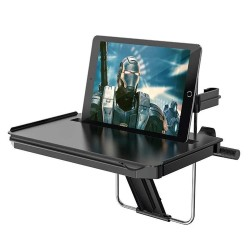 Раскладной стол (держатель) для ноутбука-планшета в автомобиль Hoco DH03 на руль или подголовник Черный