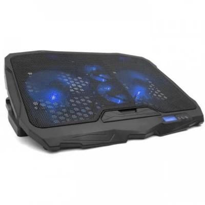 """Подставка для ноутбука с охлаждением и подсветкой SY S18 (4 вентилятора, регулировка угла наклона и скорости) до 17"""" Black"""