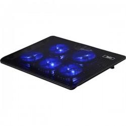 """Подставка для ноутбука с охлаждением и подсветкой SY V5 (5 вентиляторов, 1USB) до 15,6"""" Black"""