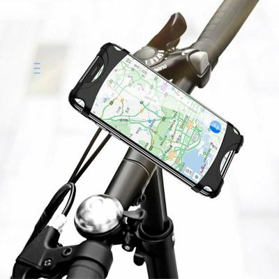 Велодержатель для телефона на руль Usams US-ZJ053 Bicycle Silicon Phone Holder Black