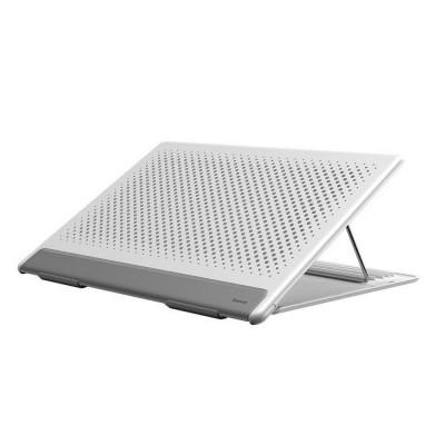 Подставка под ноутбук с регулируемым углом наклона Baseus Let's go Mesh Portable Laptop Stand White-gray