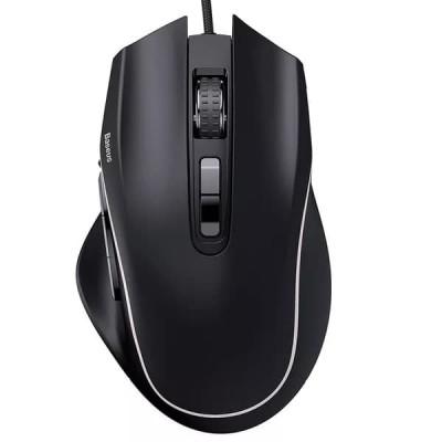 Игровая мышь проводная Baseus GAMO 9 Programmable Buttons Gaming Mouse с подсветкой Black