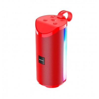 Портативная Bluetooth колонка Borofone BR5 Adventure sports wireless speaker с подсветкой (BT 5.0, AUX, USB, MicroSD, FM радио) Red