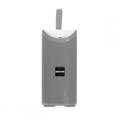 Портативная Bluetooth колонка Borofone BR5 Adventure sports wireless speaker с подсветкой (BT 5.0, AUX, USB, MicroSD, FM радио) Grey