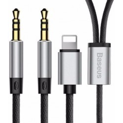 Переходник Baseus L33 Apple+3.5mm to 3.5mm AUX Black
