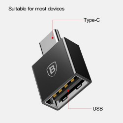 Переходник Baseus Exquisite Type-C Male to USB Female Adapter Converter