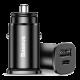 Автомобильное зарядное устройство Baseus Square metal A+C 30W PPS QC4.0+ (USB+Type-C, 5A) Black