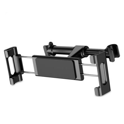 Держатель для планшета или телефона на подголовник в автомобиль Baseus Back Seat Car Mount Black
