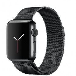 Ремешок Milanese Loop (Миланская петля) для Apple Watch 38mm/40mm Black