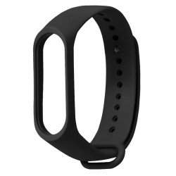 Ремешок для фитнесс браслета Xiaomi Mi Band 3/4 Black