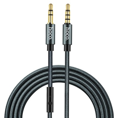 Кабель Hoco UPA04 Noble sound series AUX audio (with mic) Black