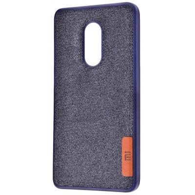 Чехол Label Case Textile для Xiaomi Redmi 5 Blue