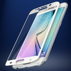 Защитное стекло 0.3 mm с изогнутыми краями для Samsung Galaxy S6 edge White