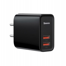 Сетевое зарядное устройство Baseus Speed QC3.0, 30W (2USB) Black