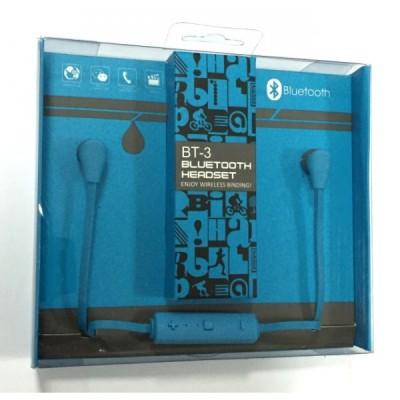 Наушники Bluetooth BT-3 Sport Series blue