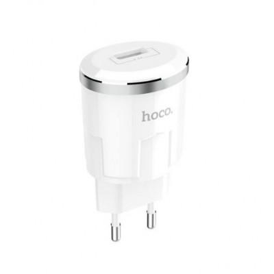 Сетевое зарядное устройство Hoco C37A Thunder (1USB, 2.4A) White