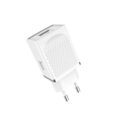 Сетевое зарядное устройство Hoco C42A Vast power Quick Charge 3.0 (1USB, 3.0A) White