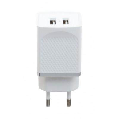 Сетевое зарядное устройство Hoco C43A (2USB, 2.4А) White