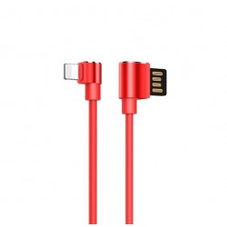 Кабель Hoco U37 Long roam charging Lightning Red