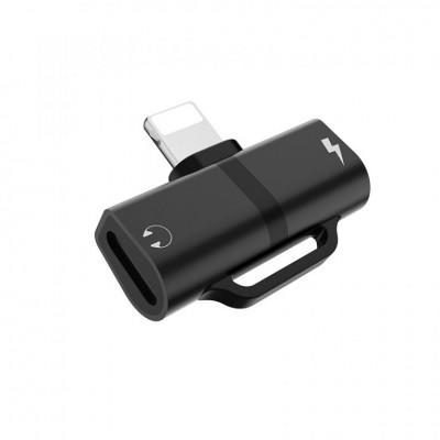 Переходник Hoco LS20 Apple dual lightning digital audio Black
