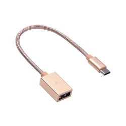 Переходник Hoco UA3 Type-C USB Patch Cord Gold