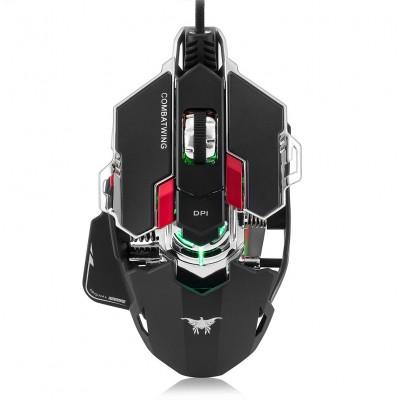 Игровая проводная мышь механическая Onikuma Combatwing CW20 Pro Wired Backlit Mechanical Gaming Mouse USB Black
