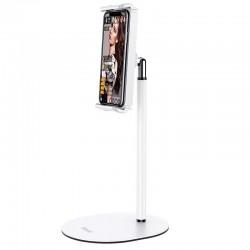 Настольный держатель (крепление) для телефона или планшета Hoco PH31 Soaring series metal desktop stand White