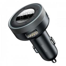 FM-модулятор (трансмиттер) в авто Baseus Enjoy Car Wireless MP3 Charger (Bluetooth 5.0, 2USB, AUX, MicroSD, 3.4A) Black
