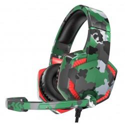 Игровые наушники для ПК с микрофоном проводные Hoco ESD08 Gaming headphones Camouflage green