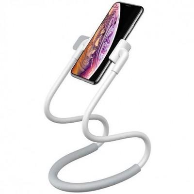 Универсальный держатель для смартфона на шею Baseus New Neck-Mounted Lazy Bracket White
