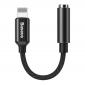 Аудио переходник для iPhone с Lightning на 3.5mm Baseus L3.5 Black