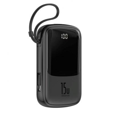 Power Bank Baseus Q pow Digital Display 3A 10000mAh (с кабелем Type-C) Black