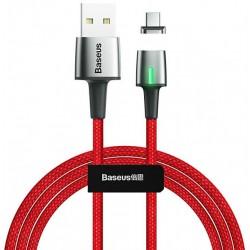 Магнитный кабель Type-C с оплеткой Baseus Zinc Magnetic 3A 1m Red