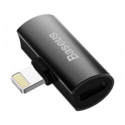 Переходник Baseus L46 Lightning to Dual Lightning digital audio converter Black