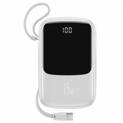Power Bank Baseus Q pow Digital Display 3A 10000mAh (с кабелем Type-C) White
