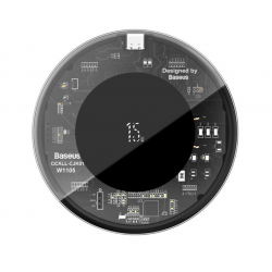 Беспроводная зарядка Baseus Simple Wireless Charger 15W (Version for Type-C) Transparent Black