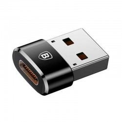 Переходник Baseus USB Male To Type-C Female Adapter Converter Black
