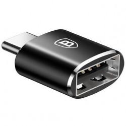 Переходник Baseus Female USB to Type-C Male Adapter Converter Black