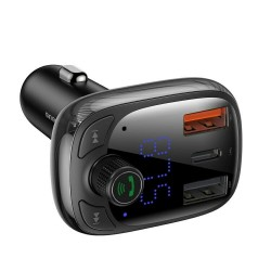 FM-трансмиттер Baseus T typed S-13 wireless MP3 car charger (PPS Quick Charger-EU) Black