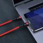 Кабель Type-C to Type-C с оплеткой Baseus Cafule PD2.0 flash charging (20V 3A) 1m Red