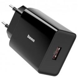 Сетевое зарядное устройство Baseus Speed Mini QC single U Quick Charger (QC3.0, 18W, 1USB) Black