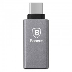 Переходник Baseus Sharp series Type-C USB 3.1 to USB 3.0 Grey