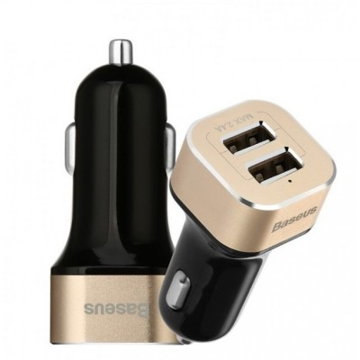 АЗУ Baseus Smart Voyage series Dual USB (CCALL-HG21V) Black/Gold